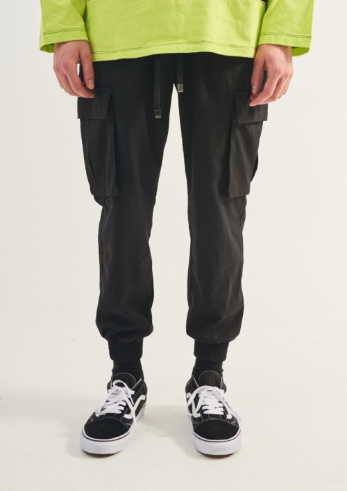 MENS TWILL CARGO STRING PANTS_BK (PWTZ1PTL45MOBK)